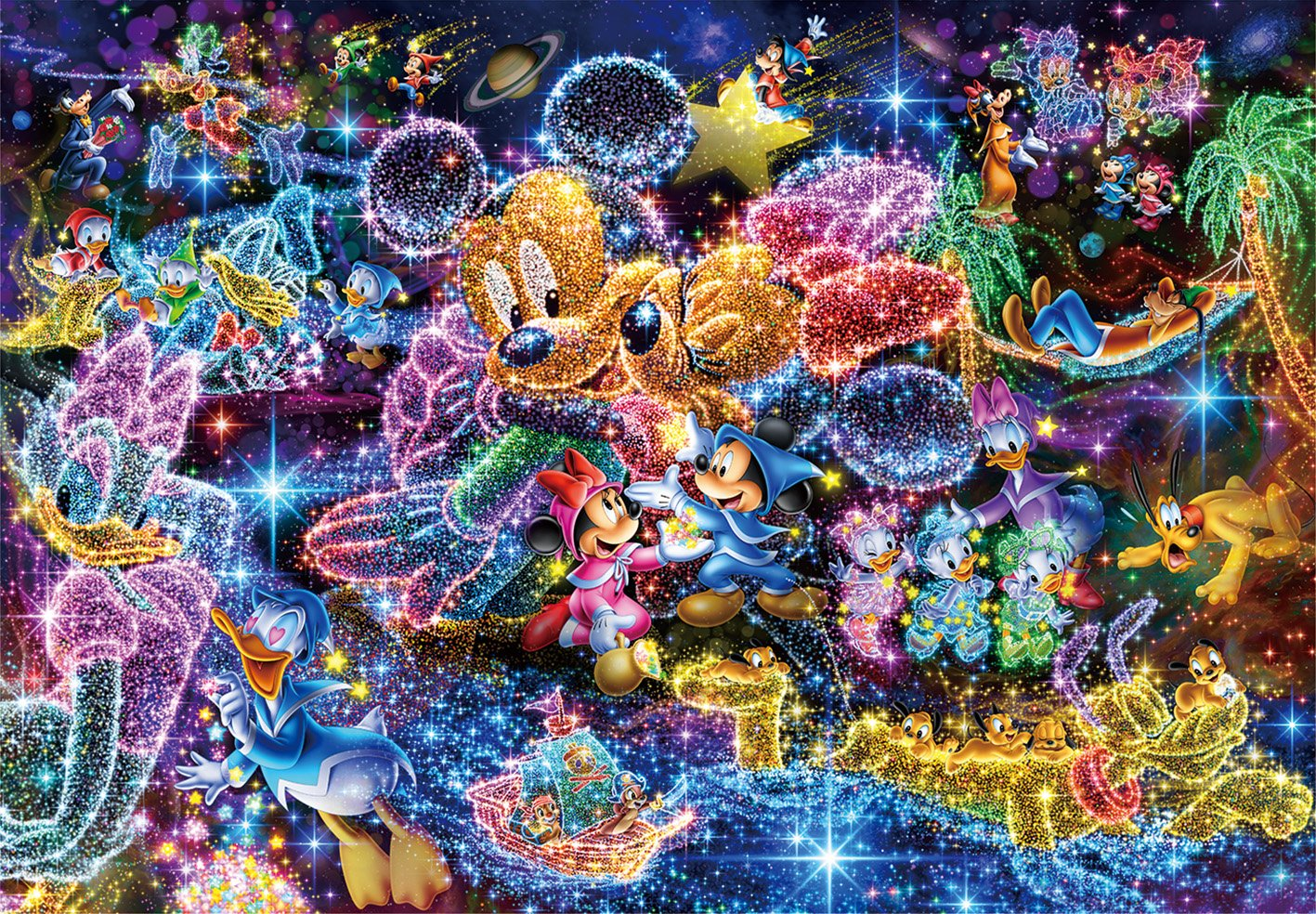 Tenyo (DS-771) Disney Stained Art Wishing to Starry Sky Jigsaw Puzzle (1000 Piece) by Tenyo