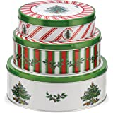 Spode Christmas Tree Pimpernel Christmas Tree Nesting Cake Tins, Set of 3