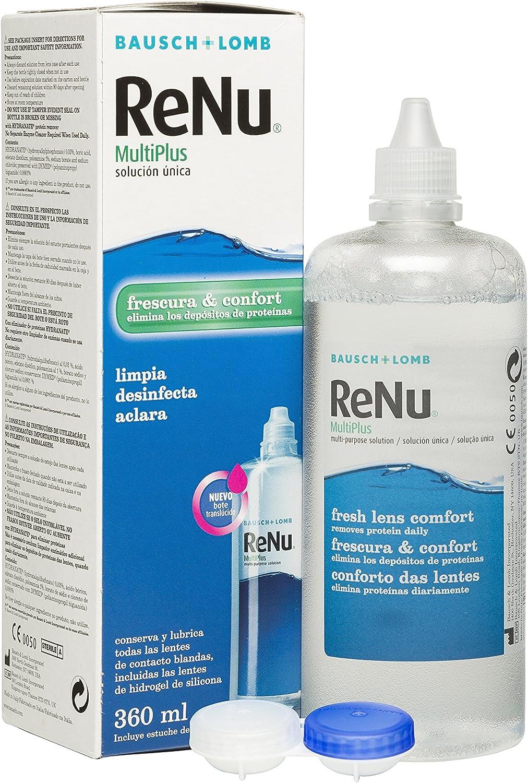 BAUSCH + LOMB - Renu® MultiPlus Solución de Mantenimiento - 360 ml: Amazon.es: Salud y cuidado personal