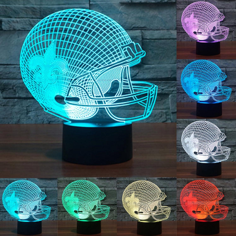 Amazon.com: Lámpara con forma de casco de fútbol, control ...