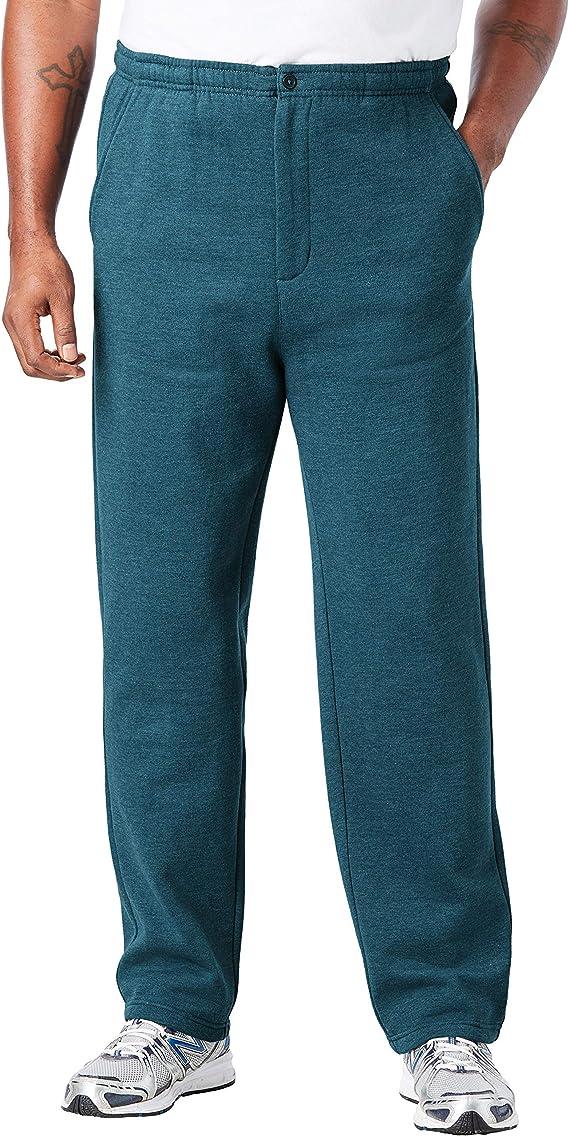 KingSize Mens Big /& Tall Fleece Zip Fly Pants