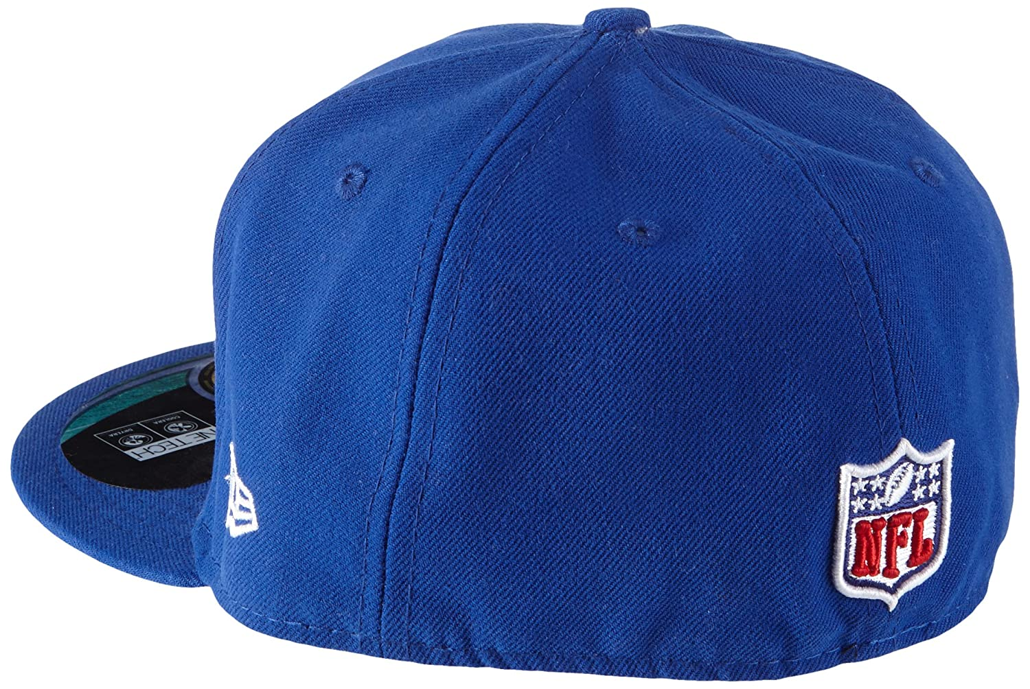 55e7653d NFL Mens New York Giants On Field 5950 Royal Blue Game Cap By New Era