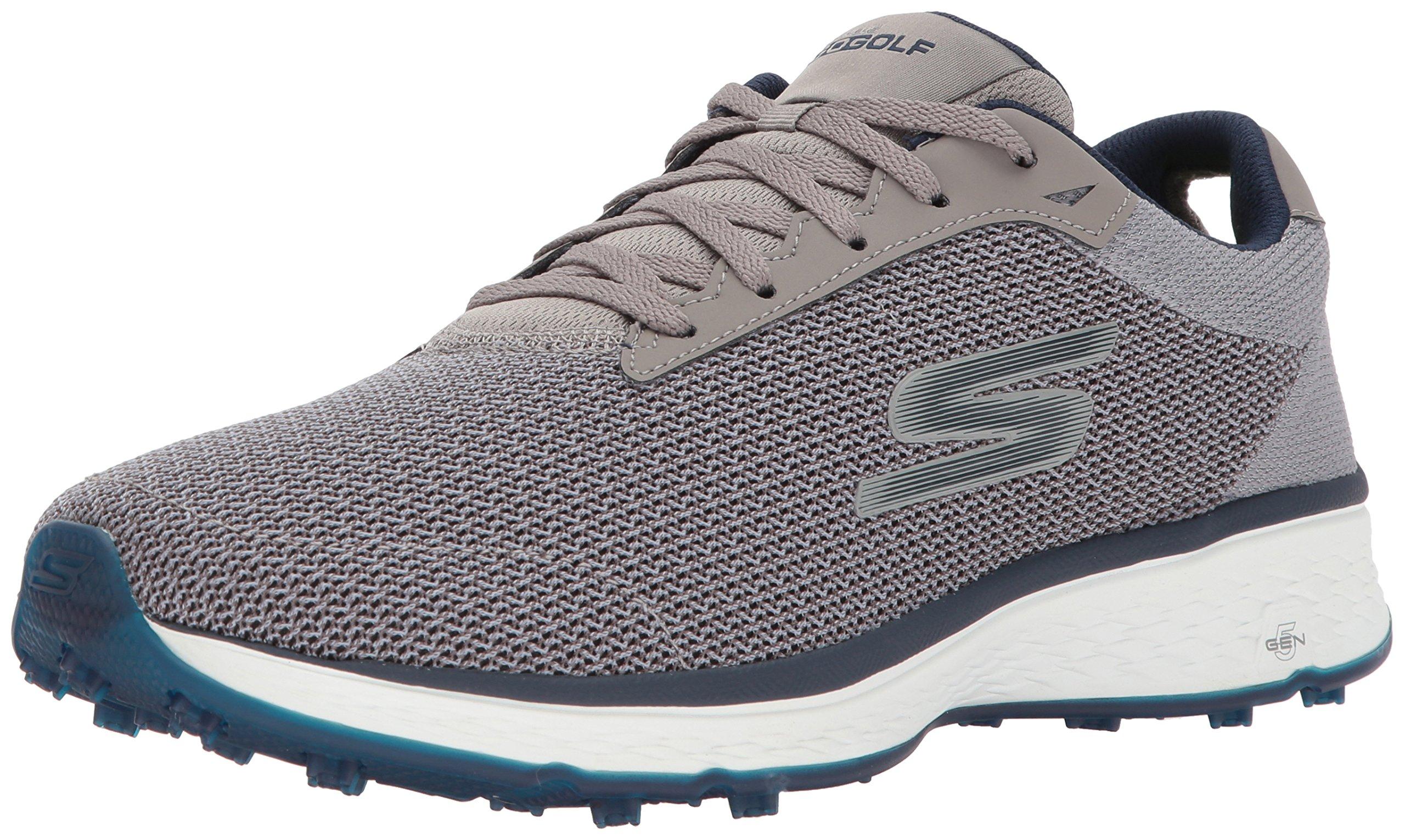 Skechers Golf Men's Go Golf Fairway Golf Shoe, Gray/Navy, 7.5 2E US