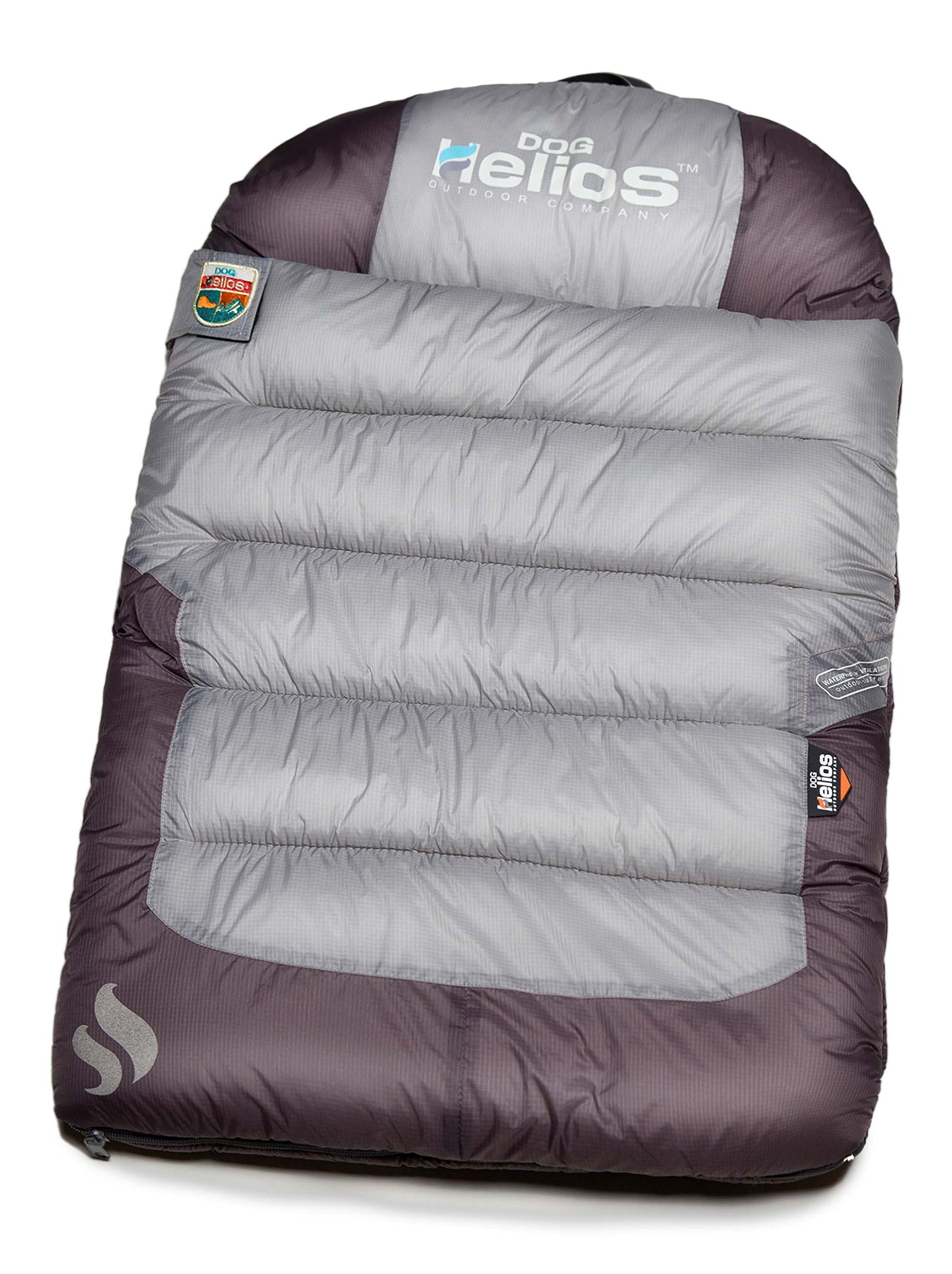 DogHelios Trail-Barker' Multi-Surface Water-Resistant Travel Camper Sleeper Pet Dog Bed Mat w/BlackShark Technology, One Size, Light Grey, Dark Grey