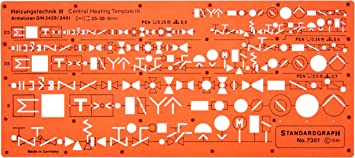 Amazon.com: Metric Heating Mechanical Building Services Installation HVAC  Symbols Drawing Template Stencil: Arts, Crafts & Sewing | Hvac Drawing Templates |  | Amazon.com
