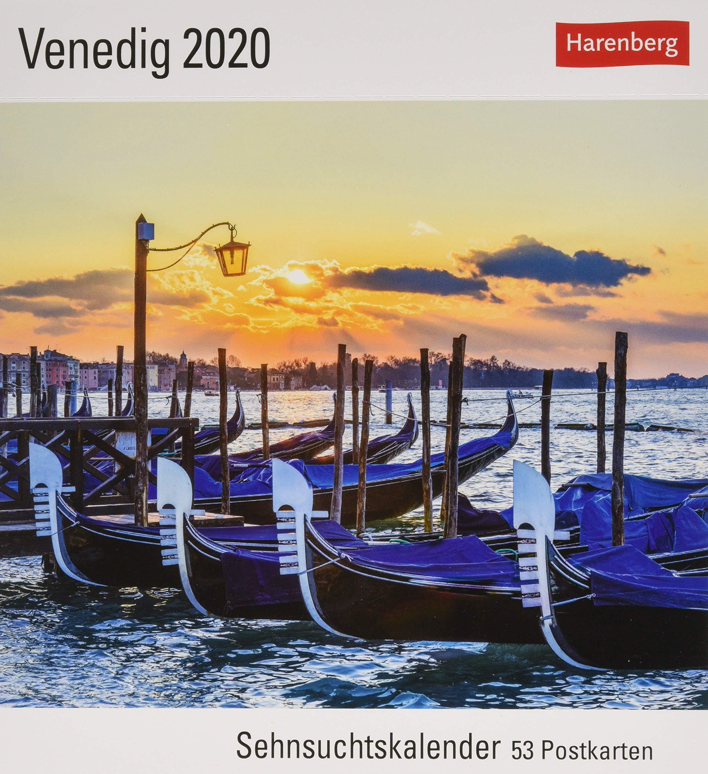 Venedig Postkartenkalender 2020. Wochenkalendarium. Blockkalender. Format 16 X 175 Cm