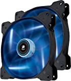 Corsair CO-9050036-WW Air Series SP140 LED 140mm Low Noise High Pressure LED Fan Dual Pack, Blue