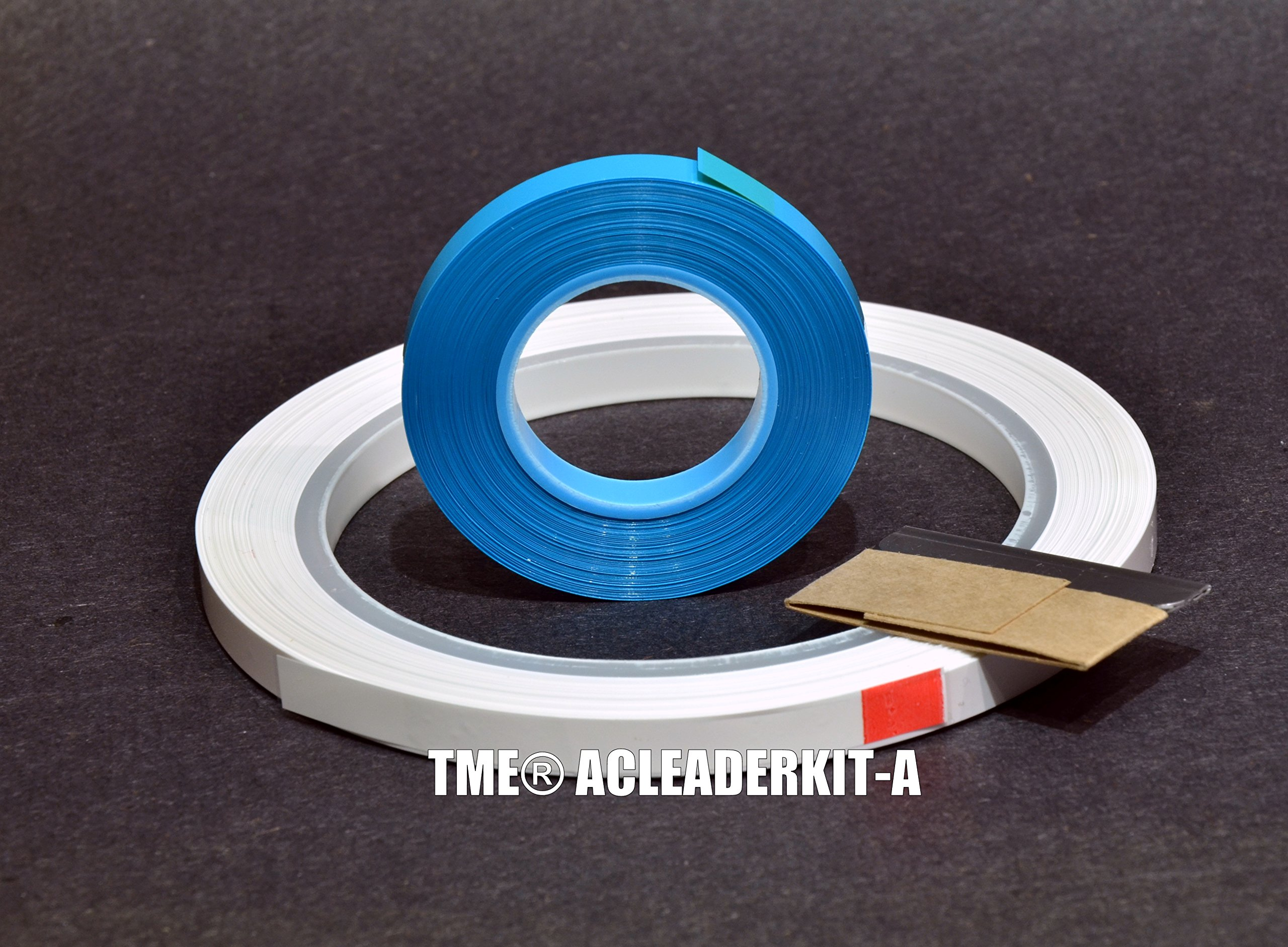 Open Reel Audio Leader Tape Kit Solid White 1/4'' X 200 Ft With Splicing Tape for Maxell, RMGI, AMPEX, and ATR Tape TME PN ACLEADERKIT-A by TME