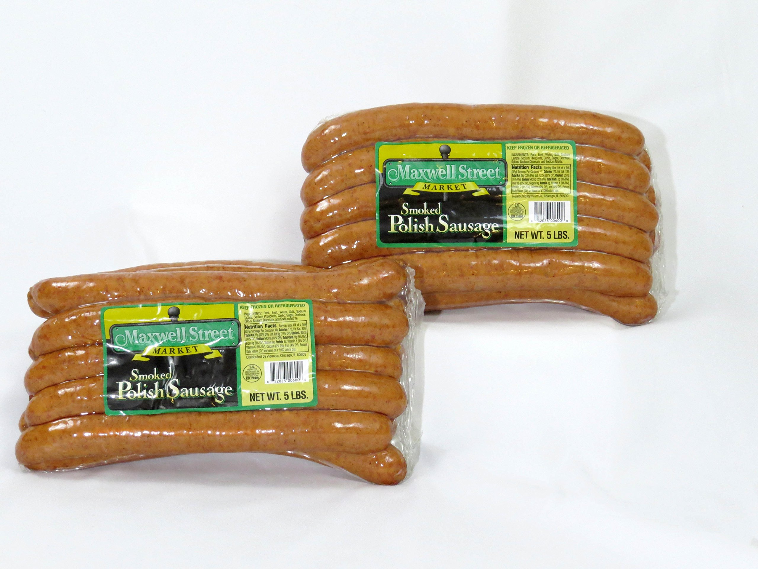 Maxwell Street Market - Smoked Polish Sausage 12'' 2:1 10 lbs. (20 count)
