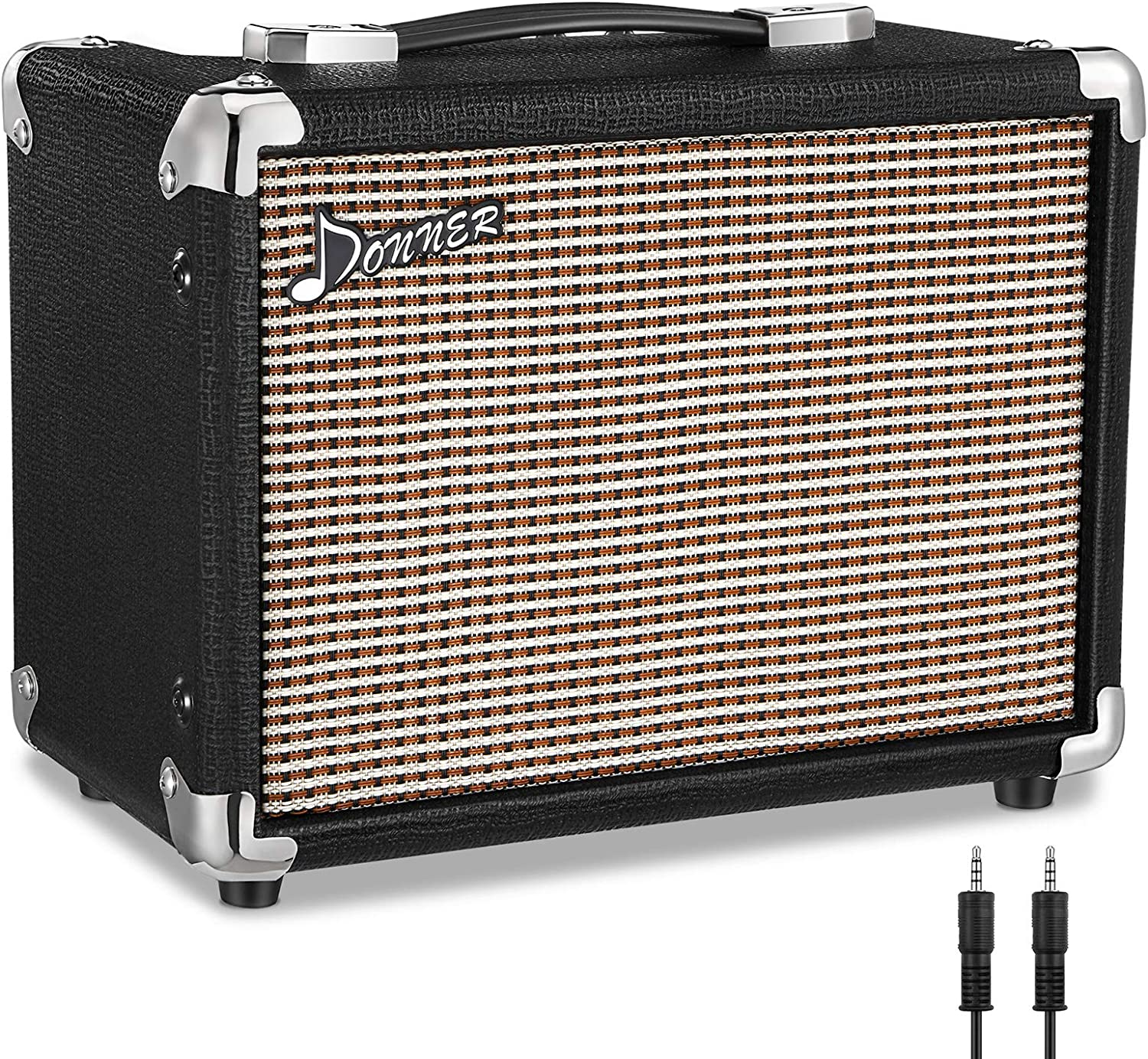 Donner M-10 10W Guitar Amplifier, Electric, Bass and Acoustic Guitar Combo Amp, with APP Effector Input and Distortion Tone for Heavy Music Player