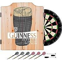 Trademark Gameroom Guinness Dart Gabinete Set con Tablero de Dardos y diseño Line Art Pinta