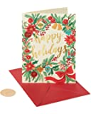 Papyrus Christmas Cards Boxed, Happy Holidays (14-Count)