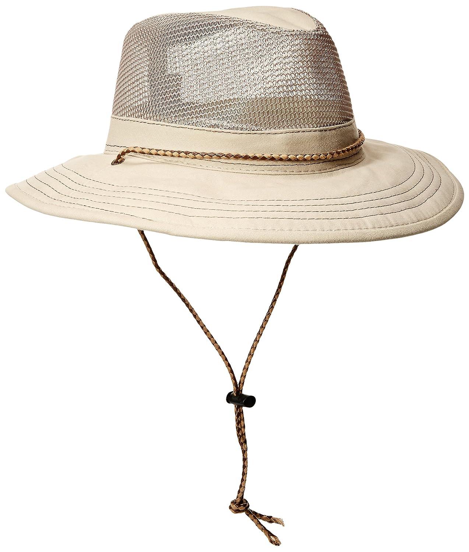 Stetson Mens Standard Springfield Mesh Safari Hat Khaki X-Large Dorfman Pacific Co. Inc Men' s Headwear STC64-KAKI4