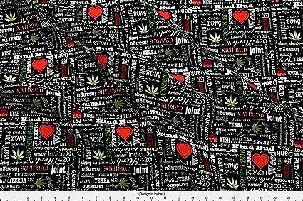 Cannabis Color Marihuana nombres Jr por camomoto – Cannabis Tela con spoonflower – impreso en una