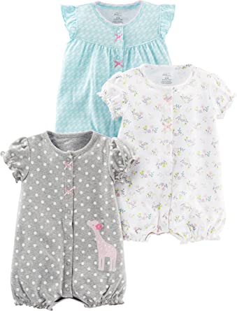 Carter/'s Baby Girls 1 Piece Snap-Up Romper Cotton Newborn to 24 Months New