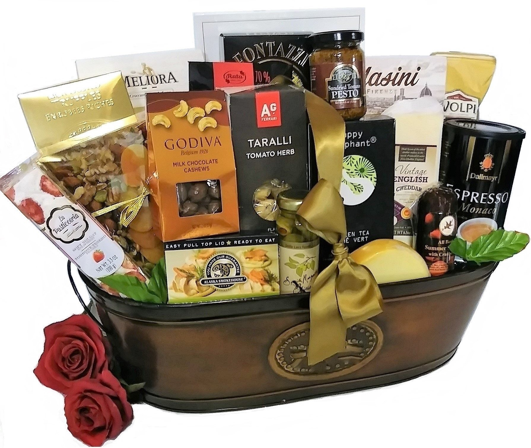 Golden Luxuries Gourmet Food Gift Basket