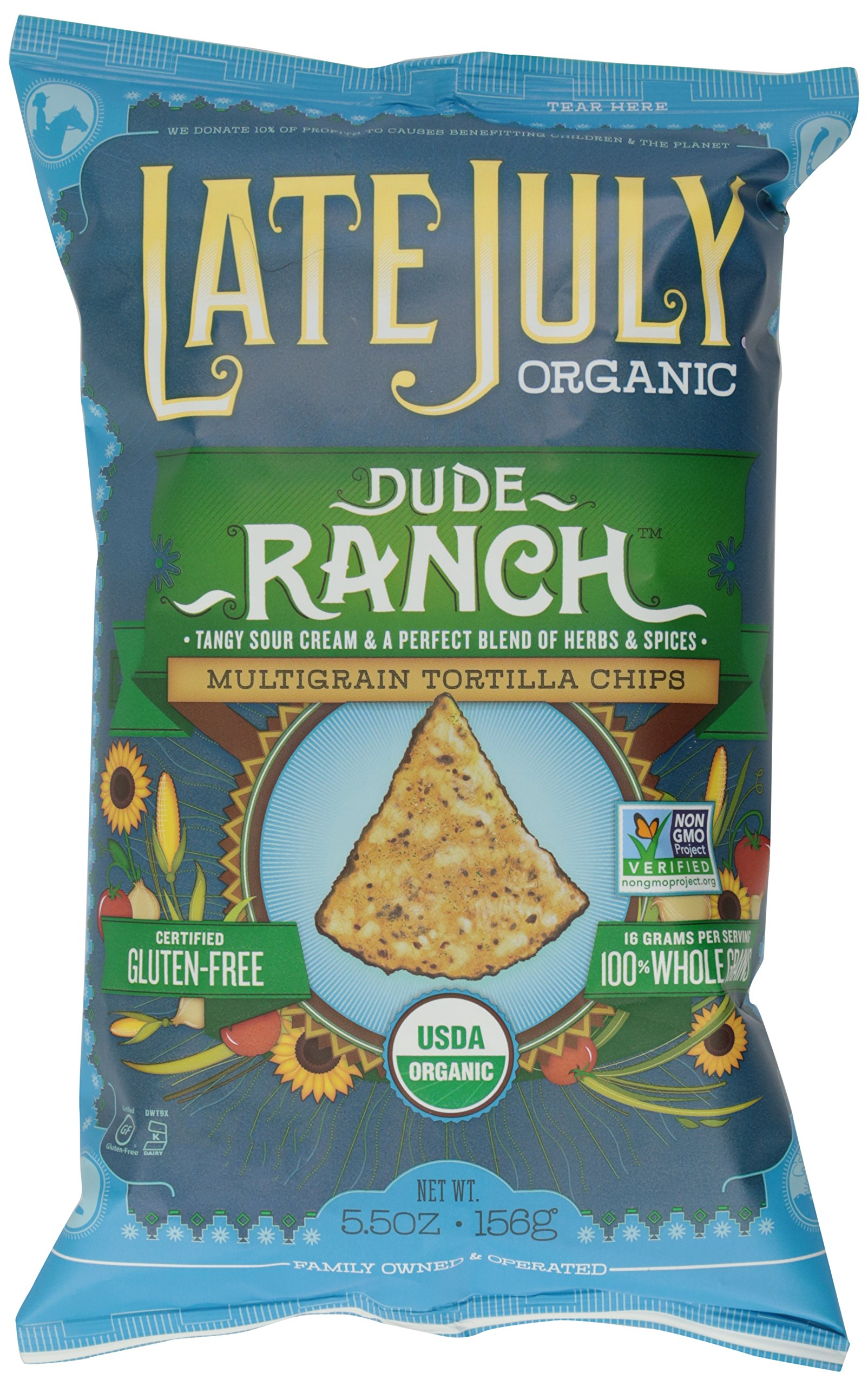 Late July Chip Multigrain Ranch Org, 5.5 oz
