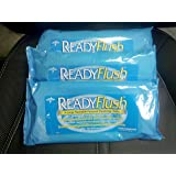 3 Pack Medline ReadyFlush X-Large Premoistened Personal Hygiene Flushable Wipes, 3 Refill Packs of 24 Cloths Each