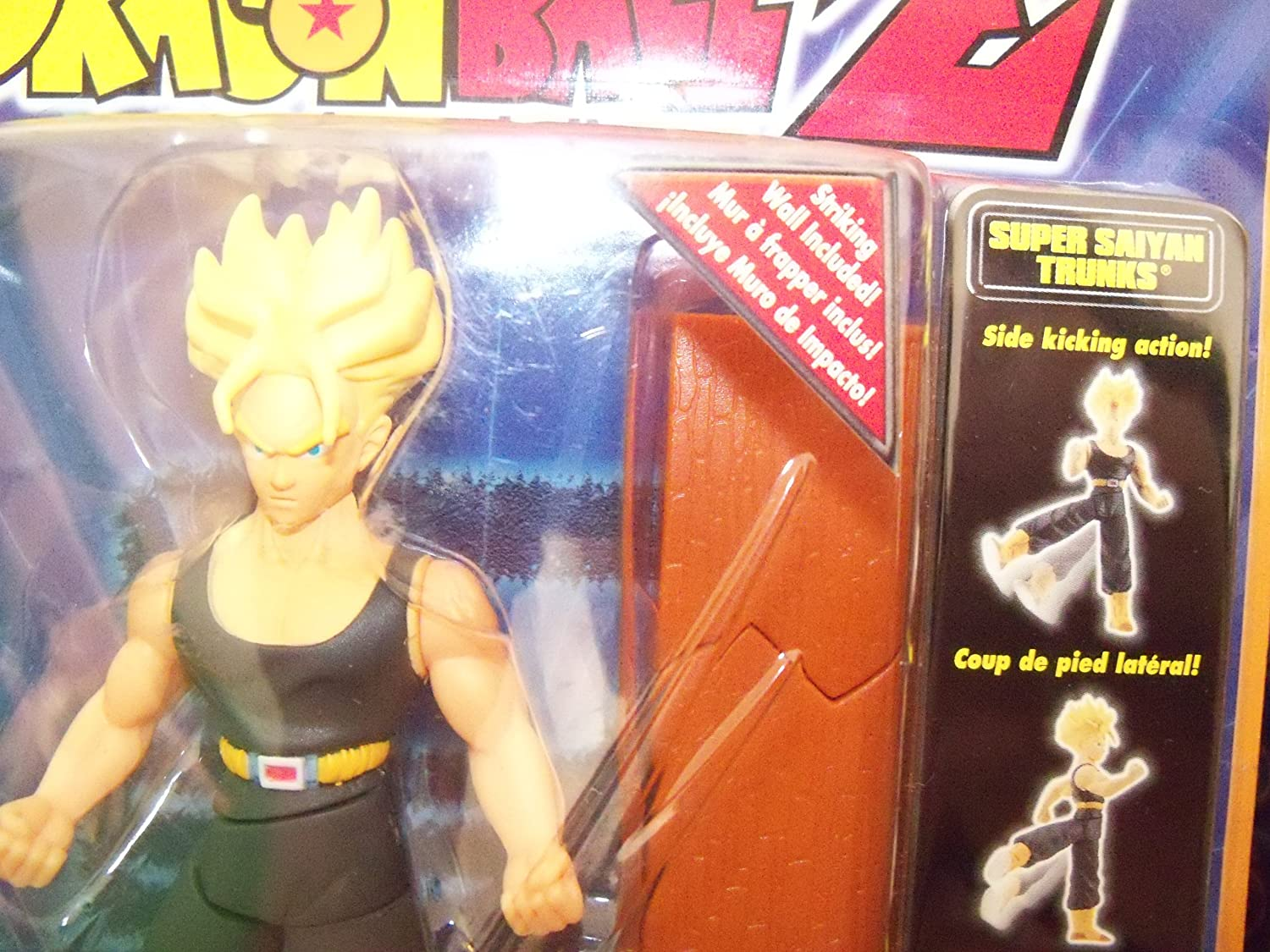 IRWIN TOYS Dragonball Z Striking Z 5 SS TRUNKS w//SIDE-KICKING ACTION FIGURE