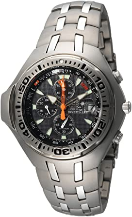 Citizen Mens BJ2060-58E Eco-Drive Aqualand 200 Meter Professional Diver Watch