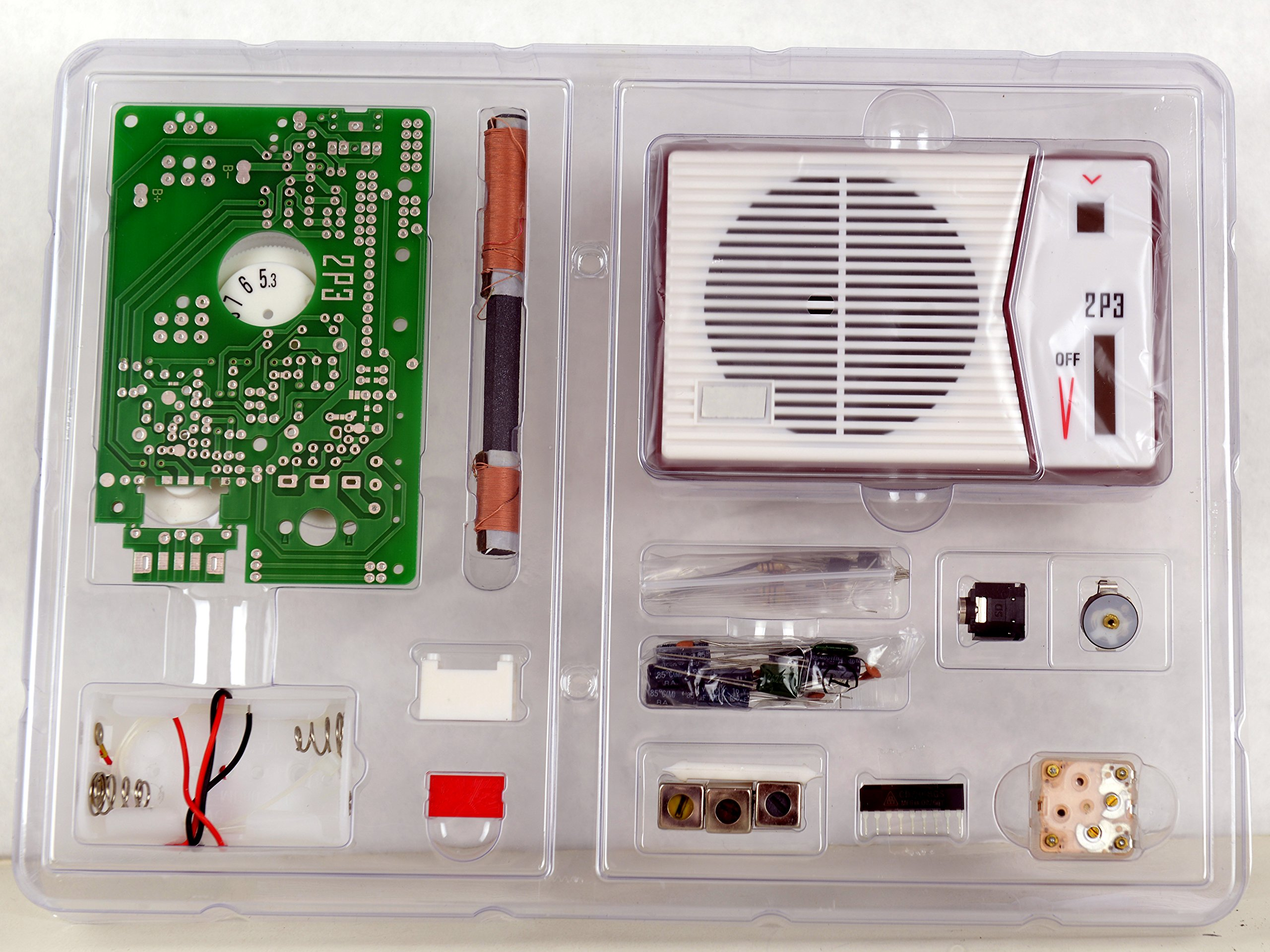 Tecsun 2P3 AM Radio Receiver Kit - DIY for Enthusiasts, Built it into a radio case ! by TECSUN