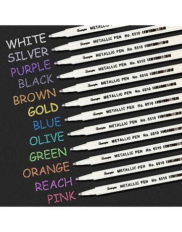 Umitive 12 Pcs Metallic Rotuladores,Multicolor Marcador Pens, Uso en Papel, Plástico,