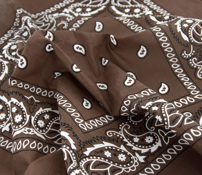 Cotton Paisley Bandana Scarf Headband 3 Pack