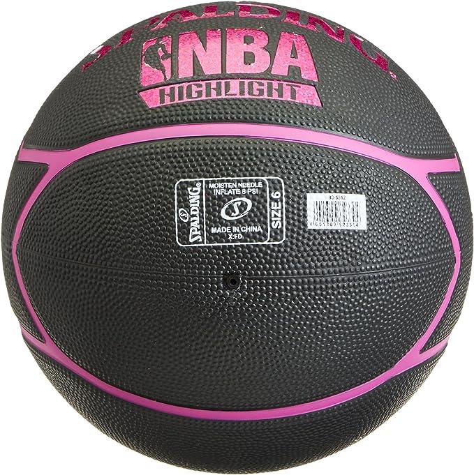 Spalding NBA Highlight 83-581Z Balón de Baloncesto, Mujer, Negro ...