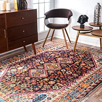 1048f238a6a2c3 Image Unavailable. Image not available for. Color: nuLOOM Traditional Vintage  Vibrant Meadow Area Rug ...