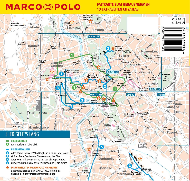 Rom Sehenswürdigkeiten Karte Deutsch.Marco Polo Reiseführer Rom Reisen Mit Insider Tipps Inkl