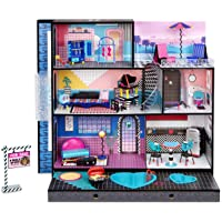 LOL Surprise OMG House – New Real Wood Doll House with 85+ Surprises | 3 Stories, 6 Rooms including Elevator, Tub, Pool…