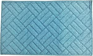 "Fashion Woven Pattern Rug, Non-Skid Home, Kitchen, Floor Mat, Comfortable Standing and Entrance Rug, 17"" x 28"" (Blue)"