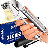 ORBLUE Garlic Press [Premium], Stainless Steel Mincer, Crusher & Peeler Set - Professional Grade, Easy Clean, Dishwasher Safe