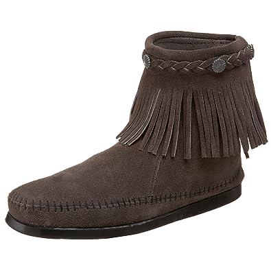 Minnetonka Hi Top Back Zip Boot 299 Damen Stiefel  Amazon.de  Schuhe ... 9f3d479f07