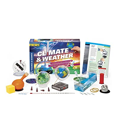 Thames & Kosmos Climate & Weather Science Kit | Learn About Climate Change, Global Warming, Ocean Currents | 23 Stem Experiments | 48 Page Color Manual | Winner Dr. Toy Best Green Toy Award: Toys & Games