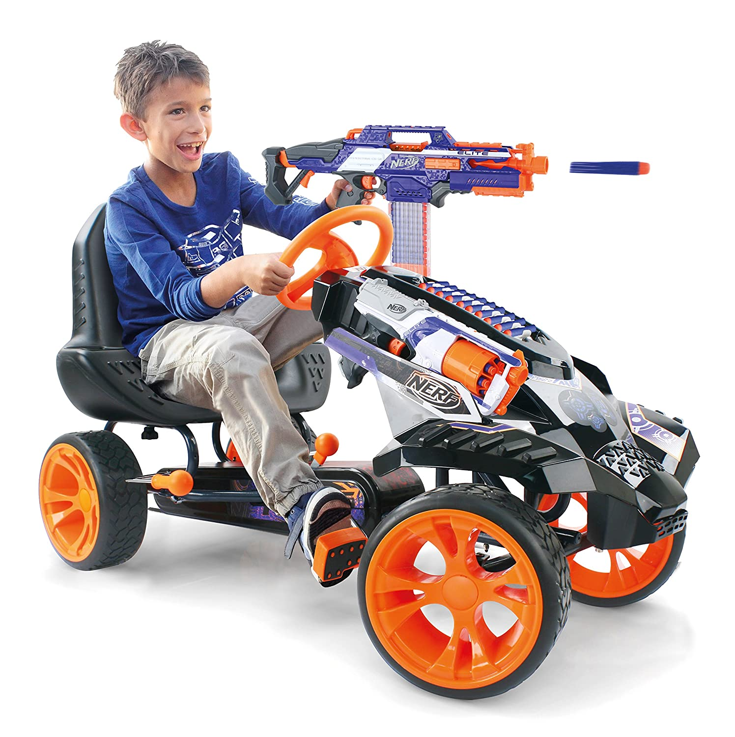 nerf battle racer go kart for kids