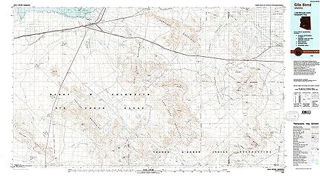 YellowMaps Gila Bend AZ topo map, 1:100000 Scale, 30 X 60 Minute,  on san luis map, grand canyon north rim map, fort defiance map, maricopa map, sierra vista map, arizona map, gillespie dam map, prescott map, casa grande map, liberty map, rio verde map, chandler map, parker map, kingman map, paradise valley map, nogales map, cibola map, tartesso map, avondale map, tolleson map,