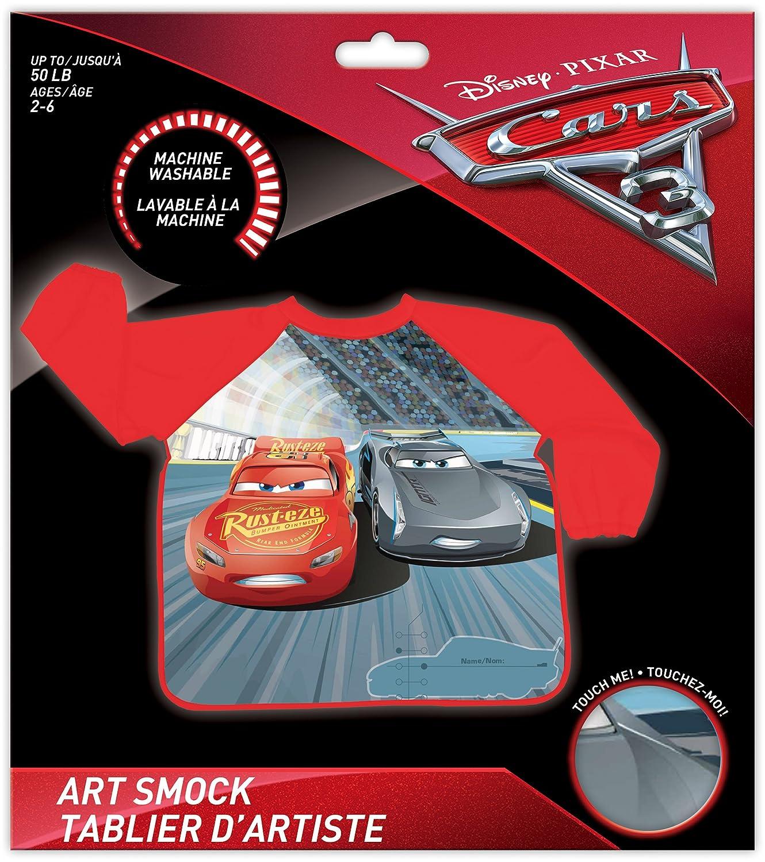 Ages 2-6 Disney Pixar Cars 3 Movie Children Art Smock Kids Art Apron with Waterproof Long Sleeves Lightweight and Comfortable Danwaras 33376
