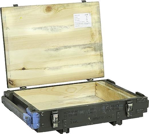 Caja de munición pmoz Caja para guardar CA 63 x 43 x 16,50 cm Militar Caja Munitions Caja de madera caja de madera cajón-estantería manzana caja Shabby Vintage: Amazon.es: Jardín