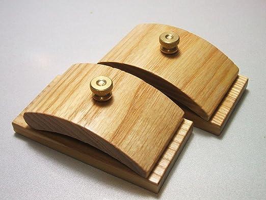 Amazon.com: 1 Pair Ash Wood Quilt Hang-Ups Clamps Clips - Large ...