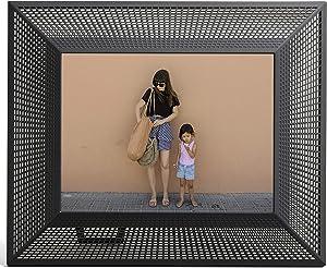Aura 2K Smith Smart Digital Picture Frame 10 Inch WiFi Cloud Digital Frame, Free Unlimited Storage Share Photos Via App, Auto Rotate Auto Dimmer Alexa Compatible, Onyx Black