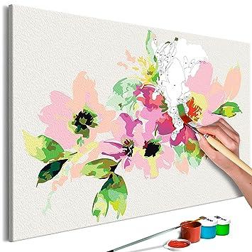 Murando Malen Nach Zahlen Malen Nach Zahlen Rote Mohnblumen 45x45cm