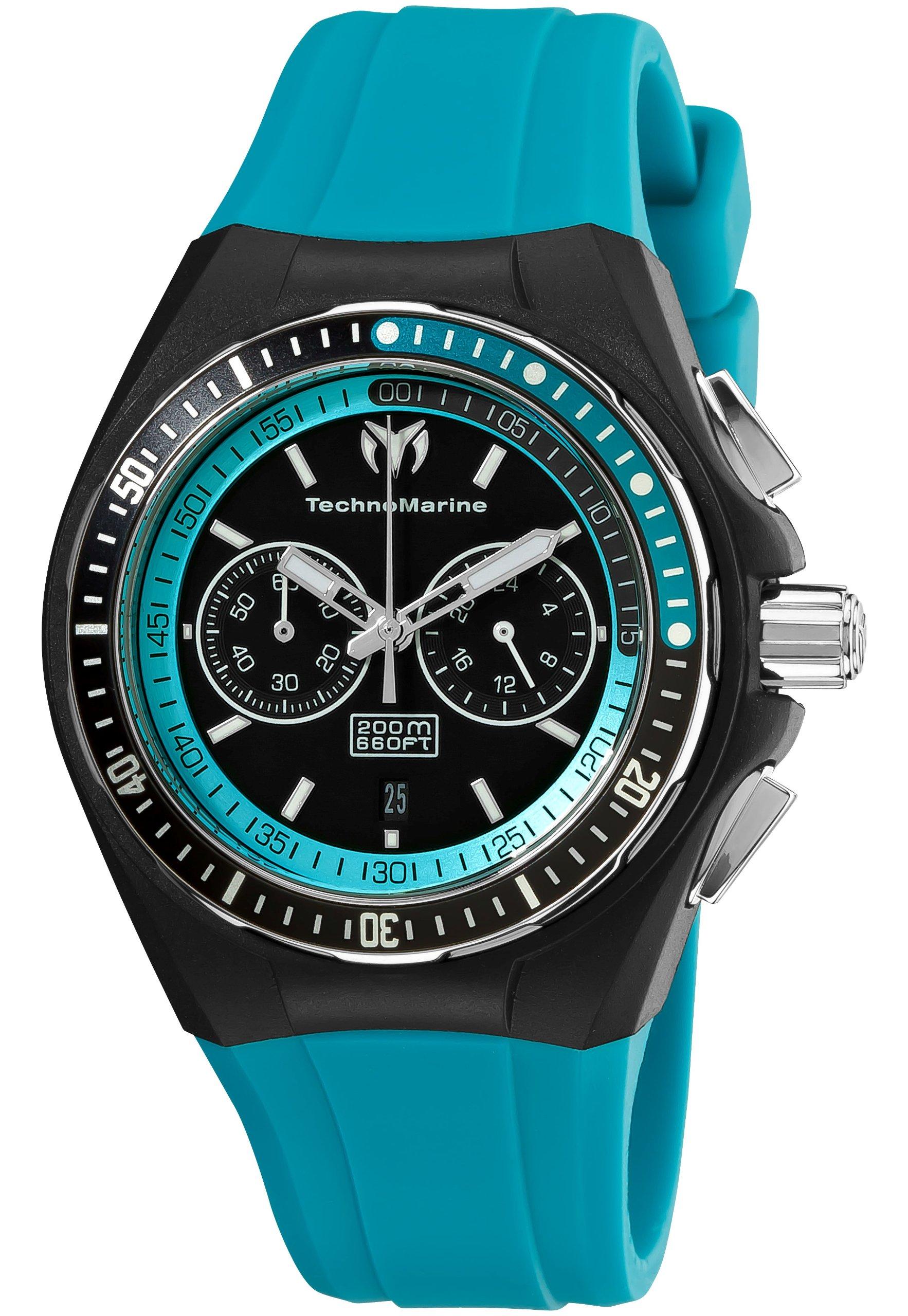 TechnoMarine Unisex 110017 Cruise Sport Chronograph Black & Blue Dial Watch