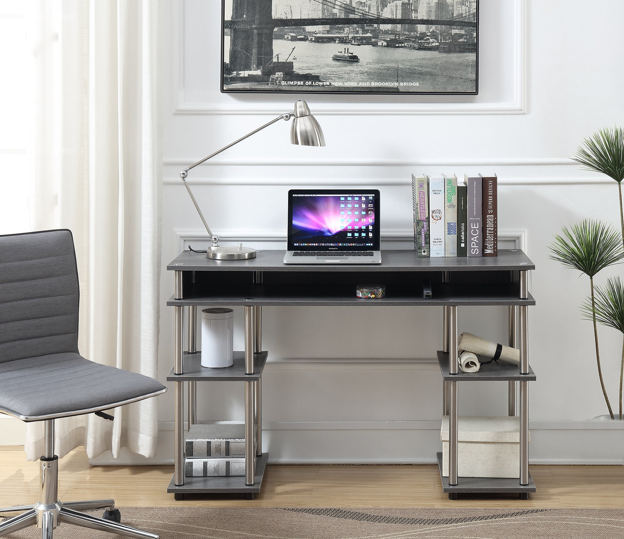 Convenience Concepts 131436CGY Student Desk, Charcoal Gray by Convenience Concepts
