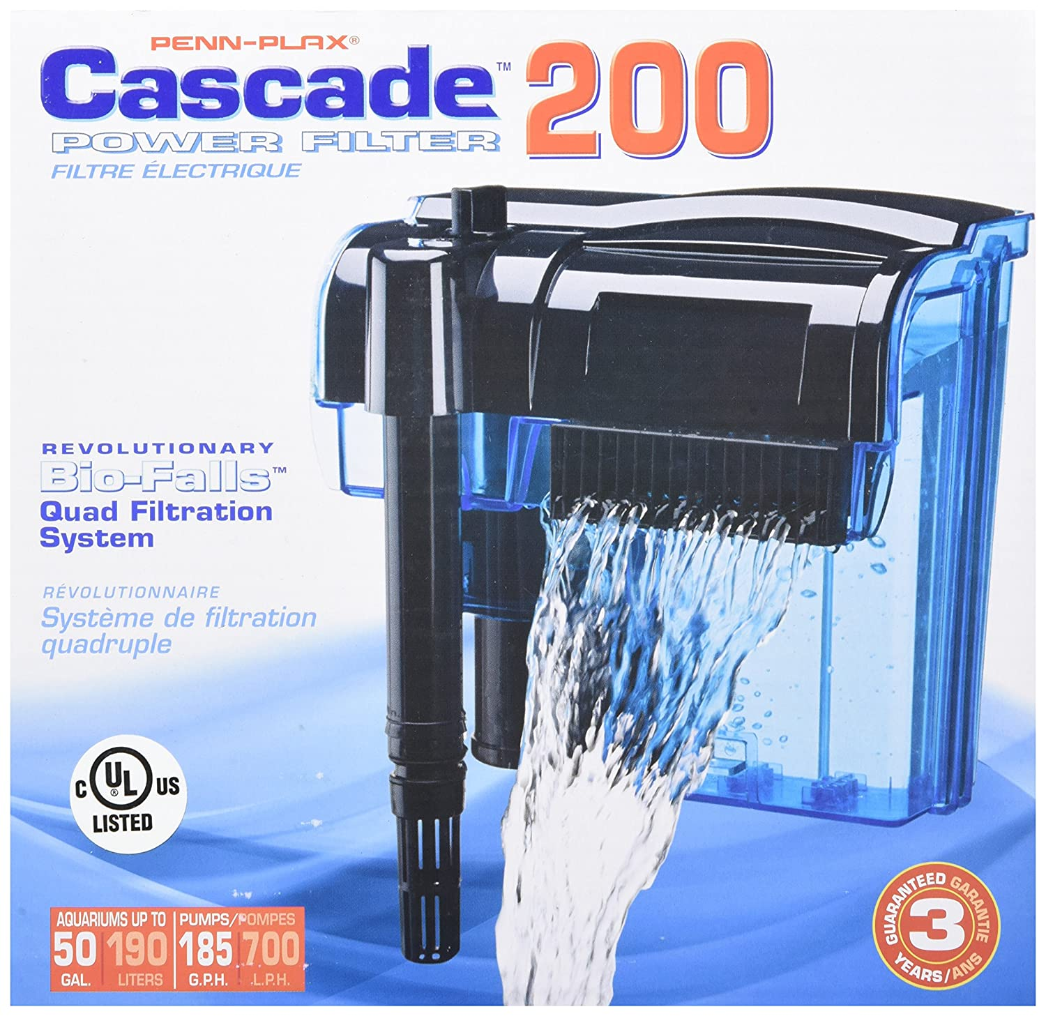 Amazon Penn Plax Cascade Hang on Aquarium Filter With Quad