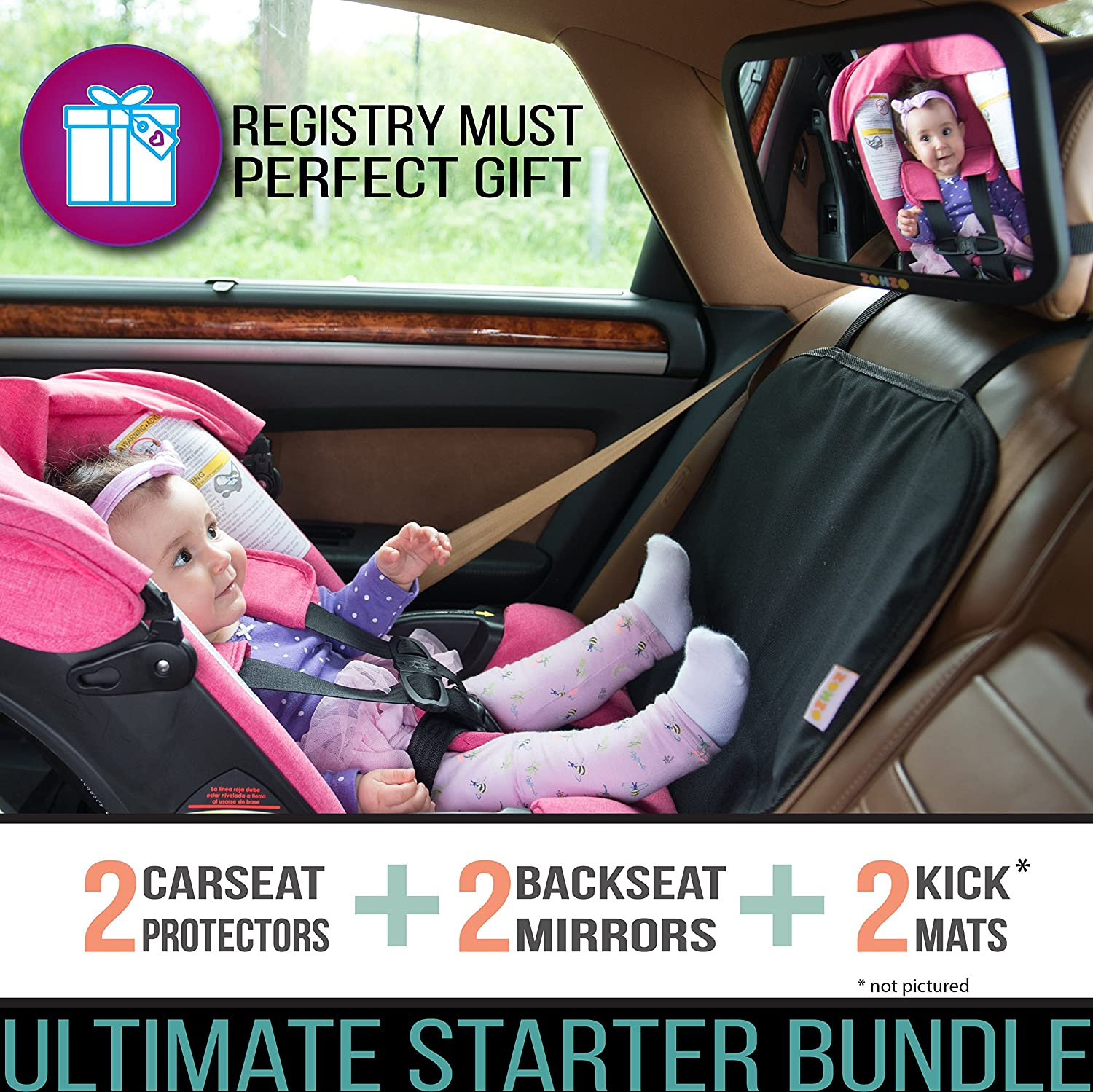 Zohzo Double Baby Car Bundle
