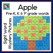 Apple Sight Word Mystery Pictures