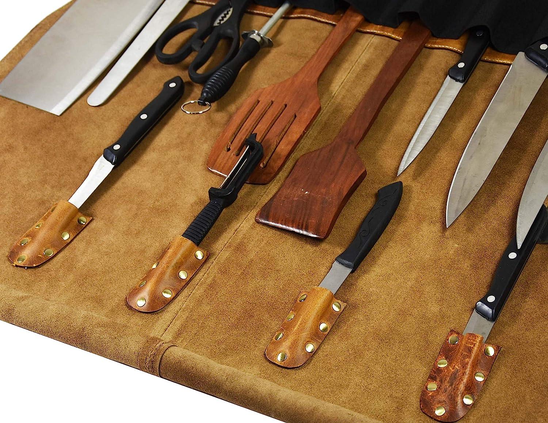 Aaron - Rollo de piel para cuchillos: Amazon.es: Hogar
