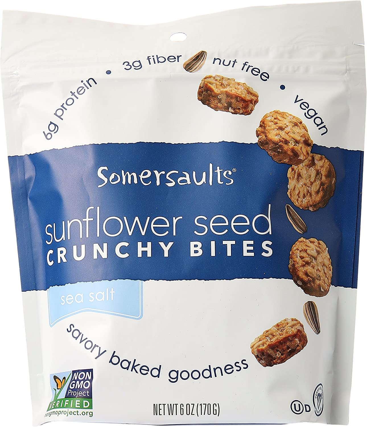 Amazon.com: Somersaults - Crunchy Nuggets Sunflower Seed Snacks ...