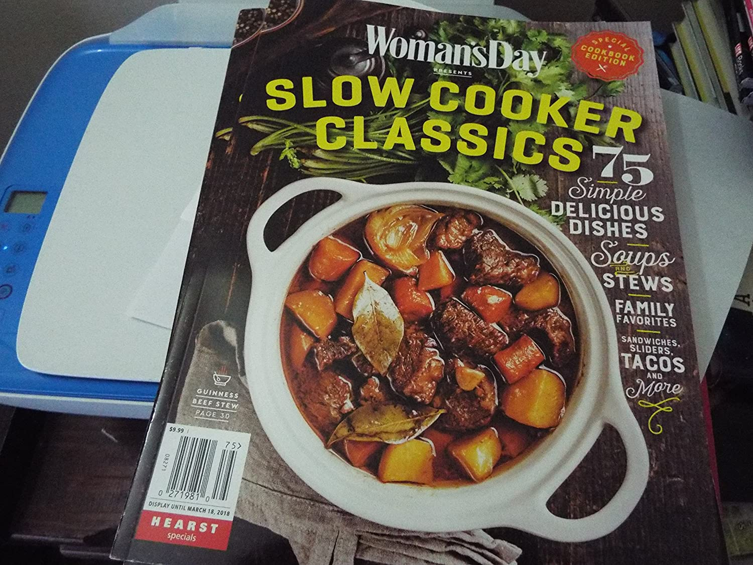 Woman's Day Slow Cooker Classics Soft Cover CookBook Edition Guinness NEW 2018